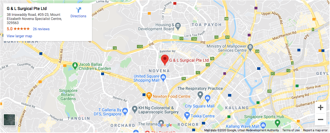 Map location of G&L Surgical Pte Ltd