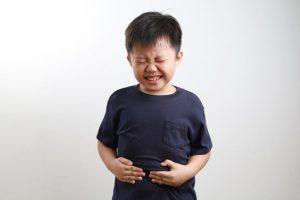 Little boy having upset tummy